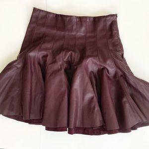 Bershka Burgundy Mini Skirt size S Small F-leather
